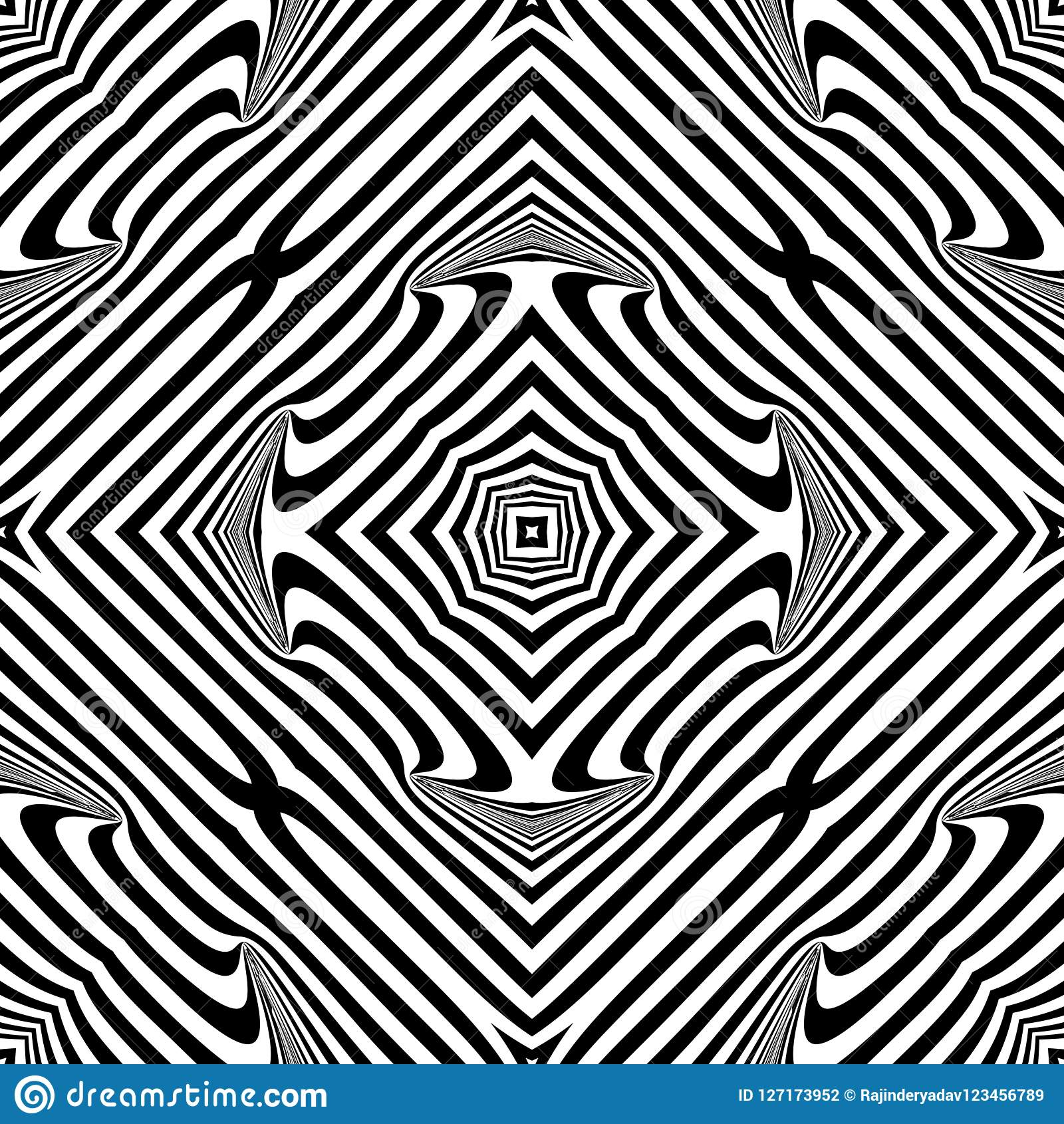 Vector Seamless Abstract Pattern Black And White Abstract Background Wallpaper Stock Vector Illustration Of Abstract Design 127173952