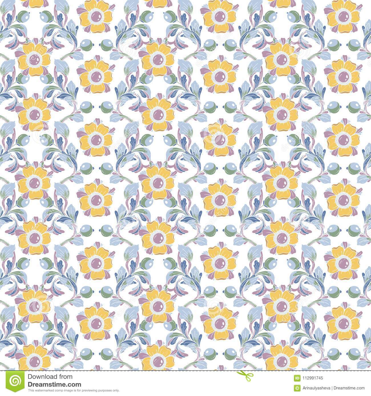 Vector seamless background. Beautiful fantastic floral border ornament delicate.