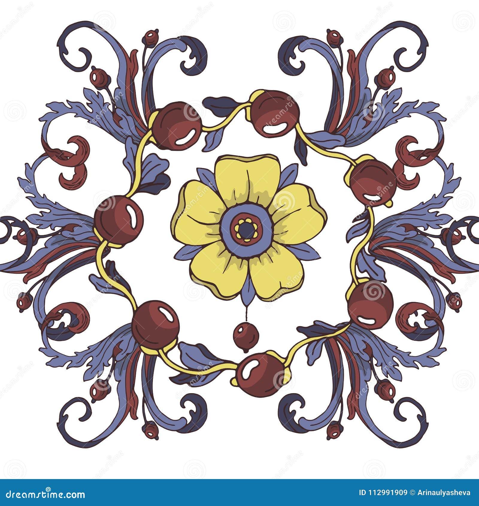 Vector seamless background. Beautiful fantastic floral border ornament delicate.
