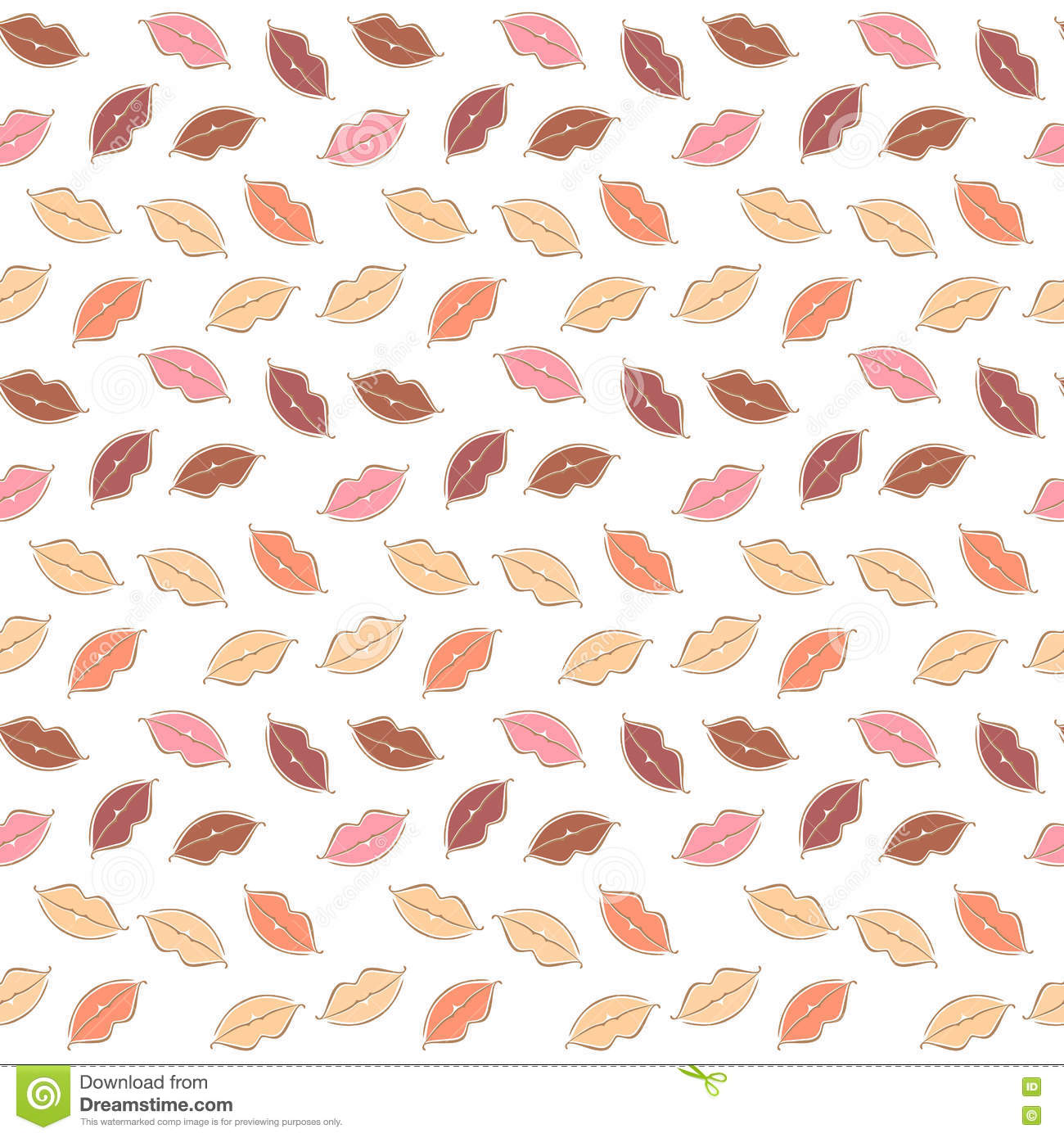 Background image body - Vector Seamless Background Of Body Parts Lips Stock Vector