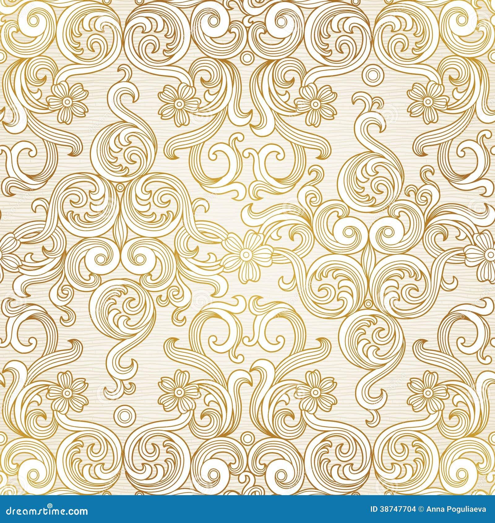 rococo motif vintage floral - photo #22