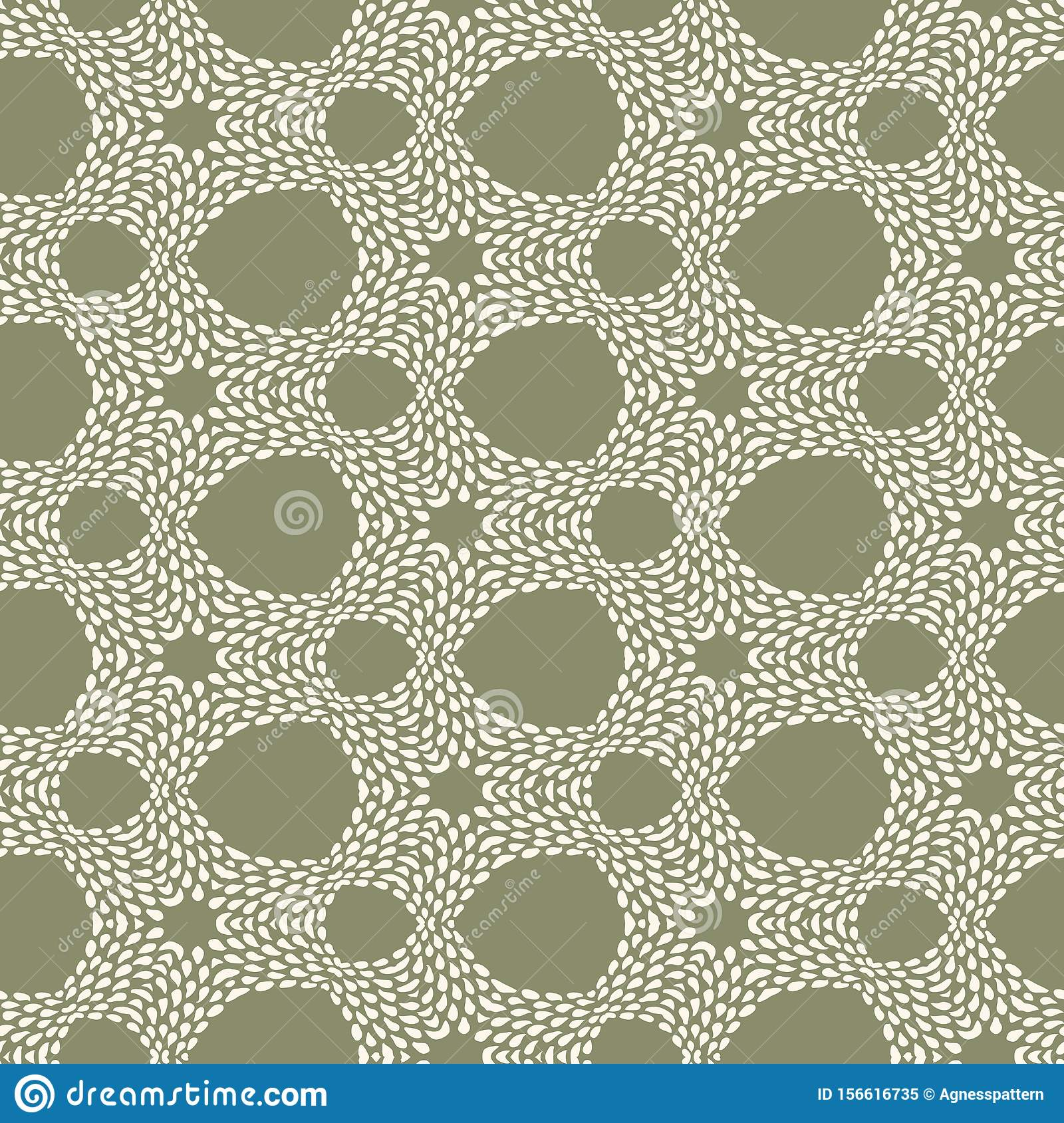 Vector Seamless Batik Pattern With Irregular Dots Texture