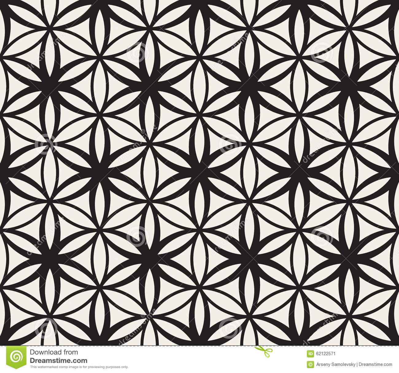 abstract background black flower geometry life pattern .
