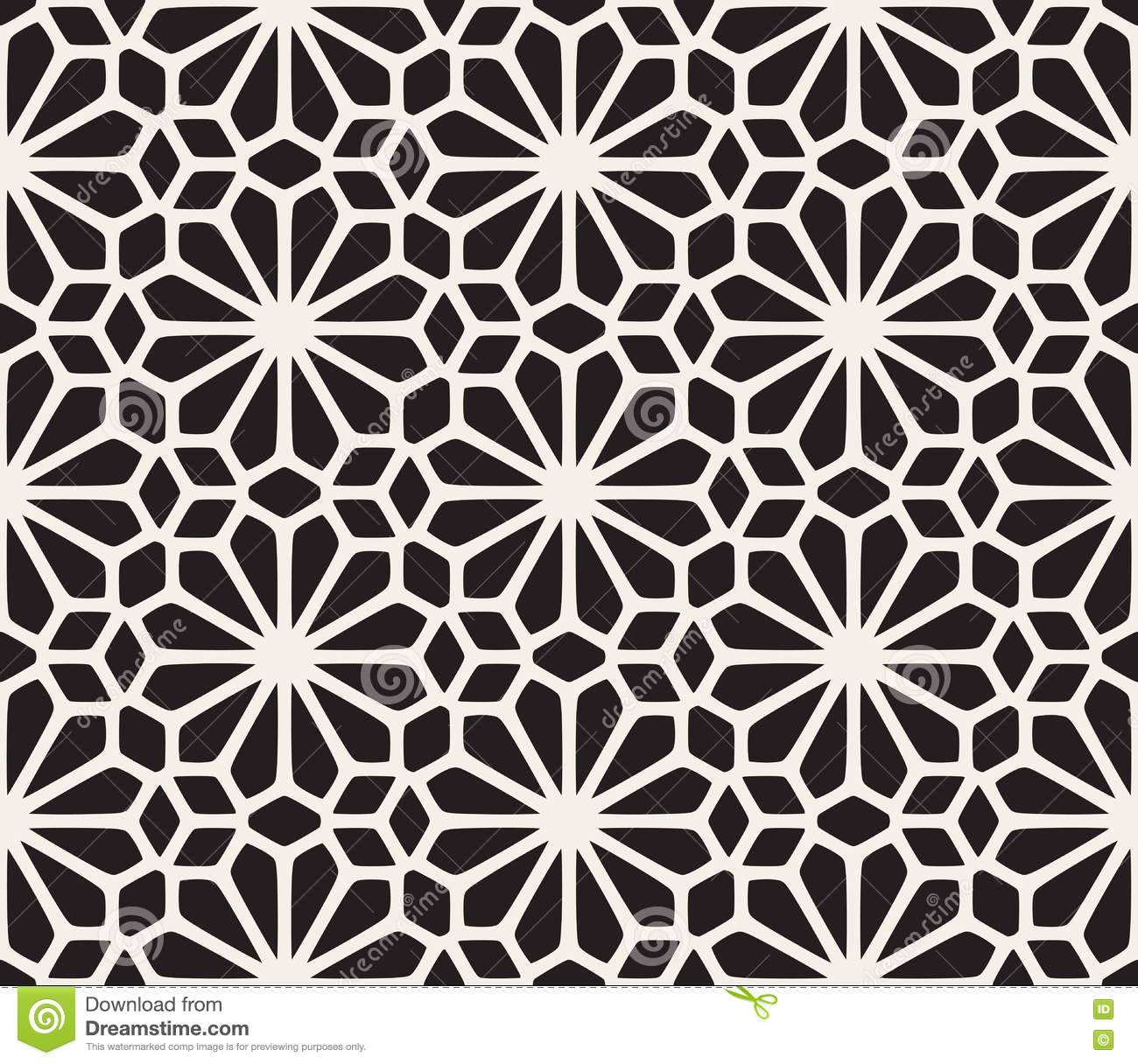 Download Vector Seamless Black And White Lace Floral Pattern Stock