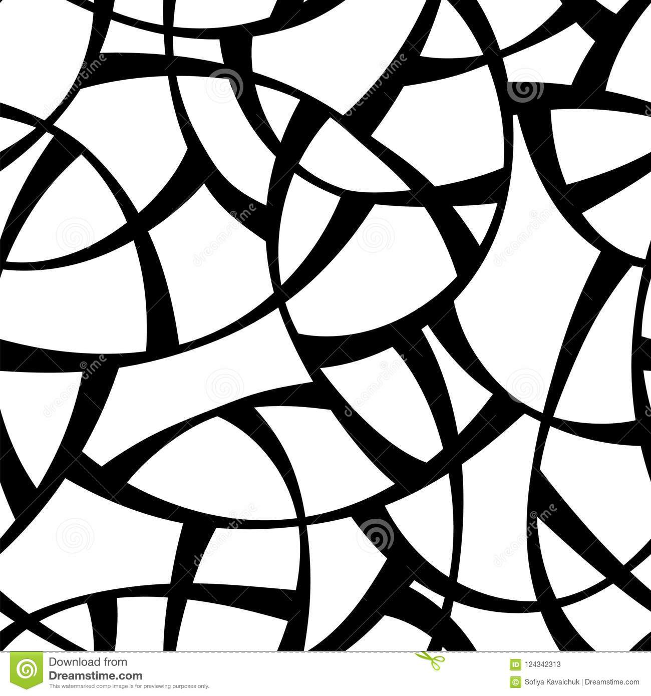 Vector Seamless Black And White Pattern Abstract Geometric