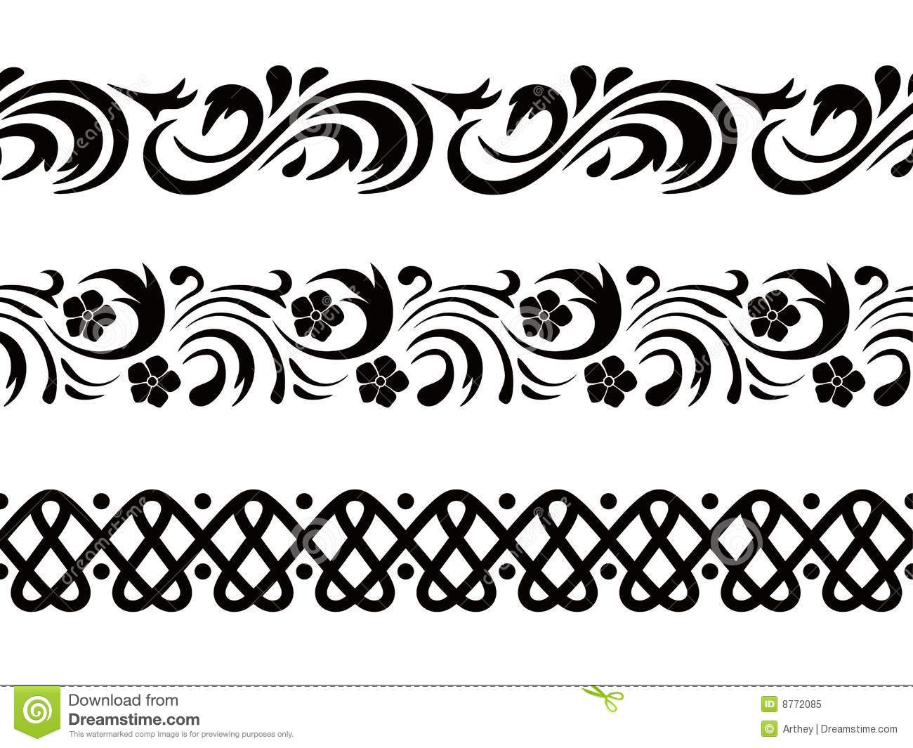 Vector. Seamless border stock vector. Image of decoration ...