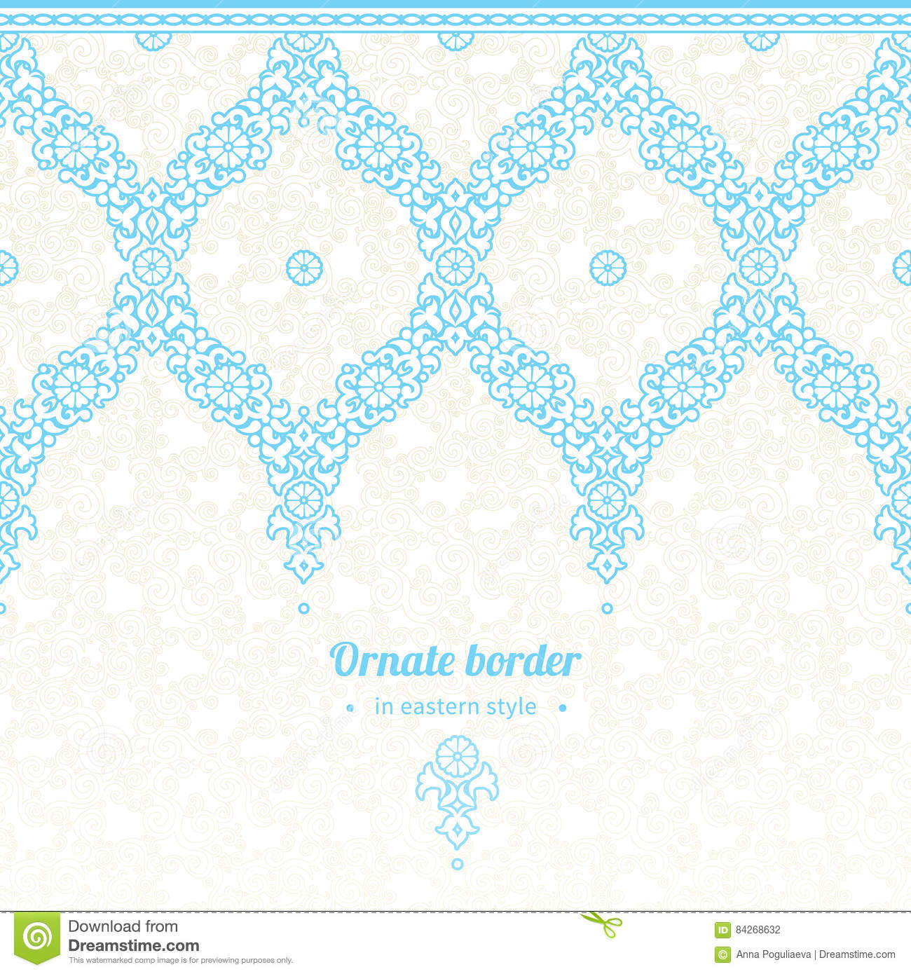 vector seamless border in eastern style ornate element for new years design ornamental lace pattern for wedding invitations and greeting cards elegant