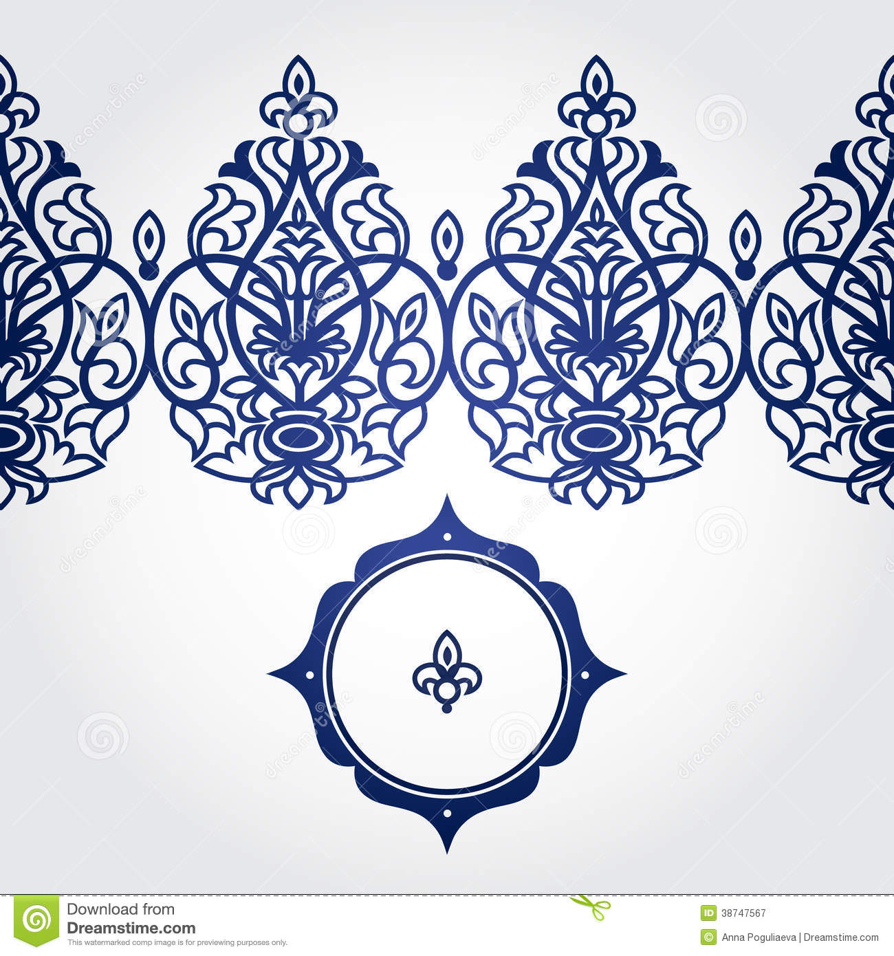 Vector Seamless Border In Victorian Style. Royalty Free ...