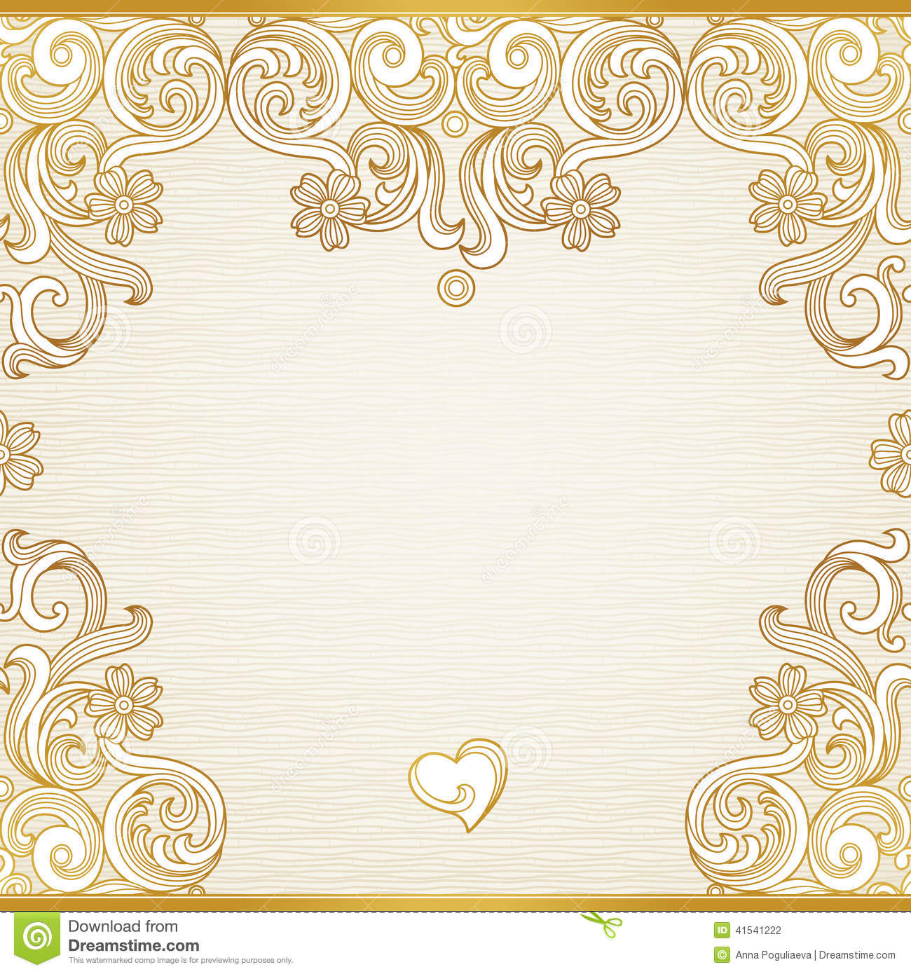 Vector seamless border in victorian style stock vector image 41541222 - Victorian design style style ...