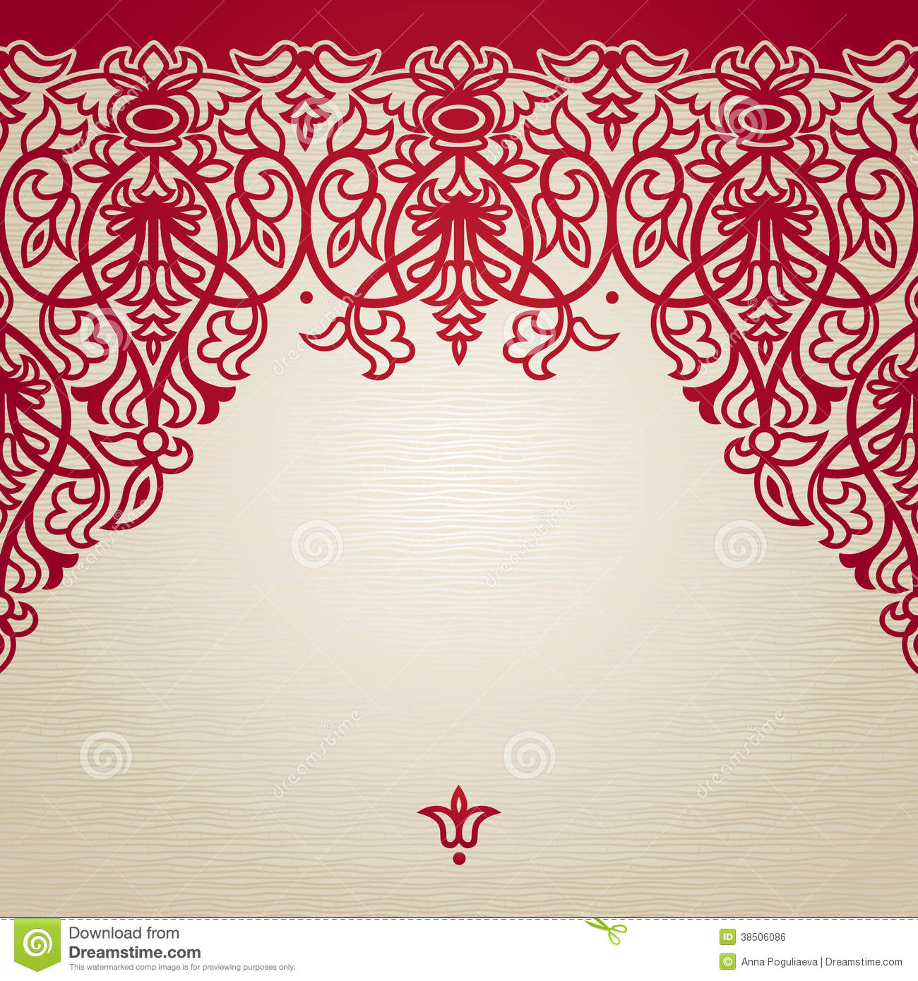 Vector Seamless Border In Victorian Style Royalty Free
