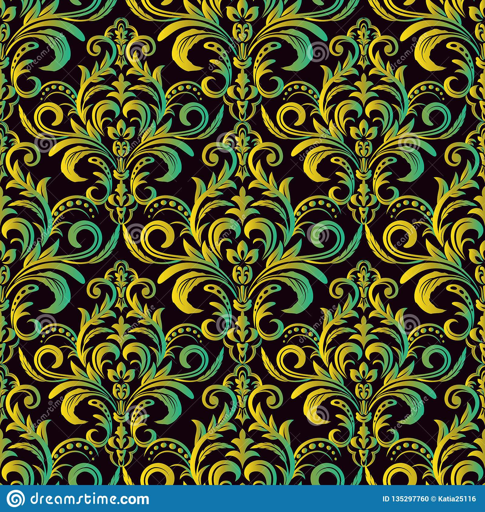 Vector Seamless Border In Victorian Style. Seamless