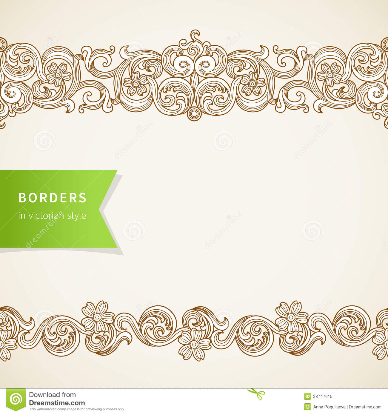 Vector Seamless Borders In Victorian Style. Royalty Free ...