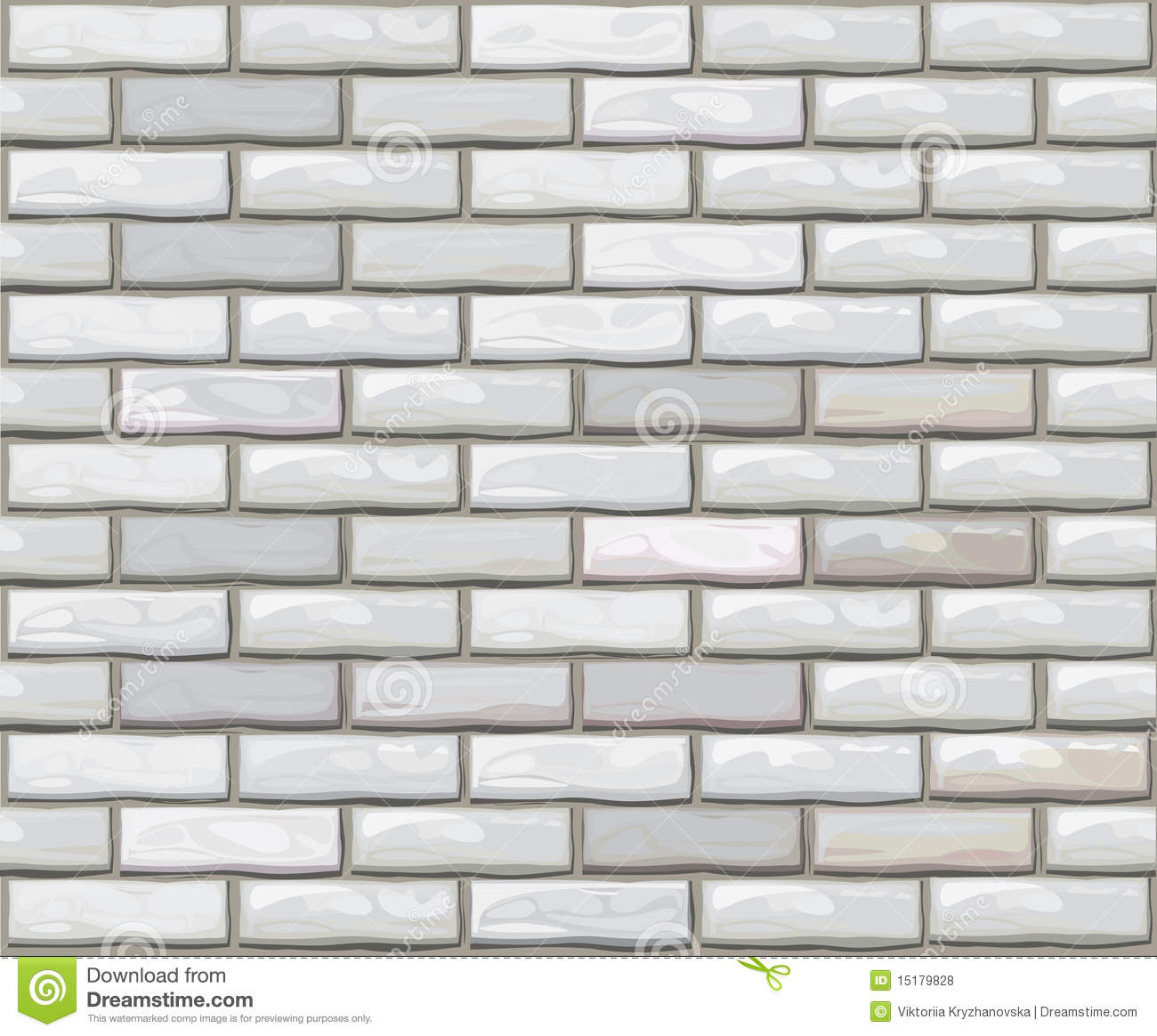 Brick Vector Picture Brick Veneers: Vector Seamless Brick Wall Made Of White Bricks. Stock