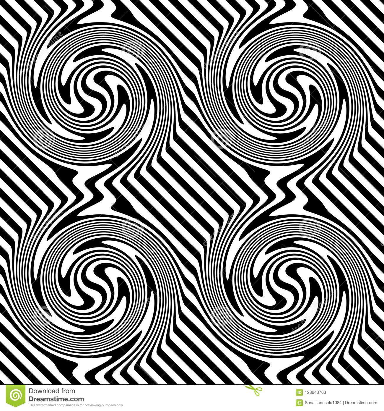 Vector Seamless Check Lines Pattern Black And White Abstract Background Wallpaper Illustration