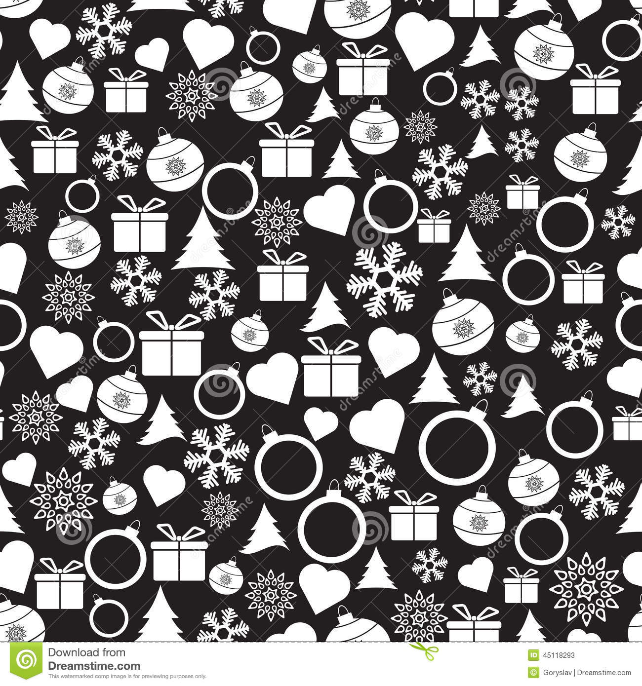 vector seamless christmas and new year pattern