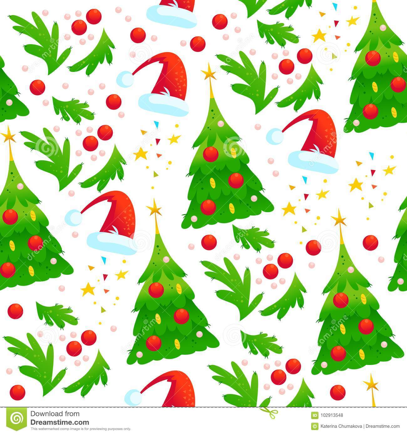cc90d7be301 Vector Seamless Christmas Pattern With Fir Tree