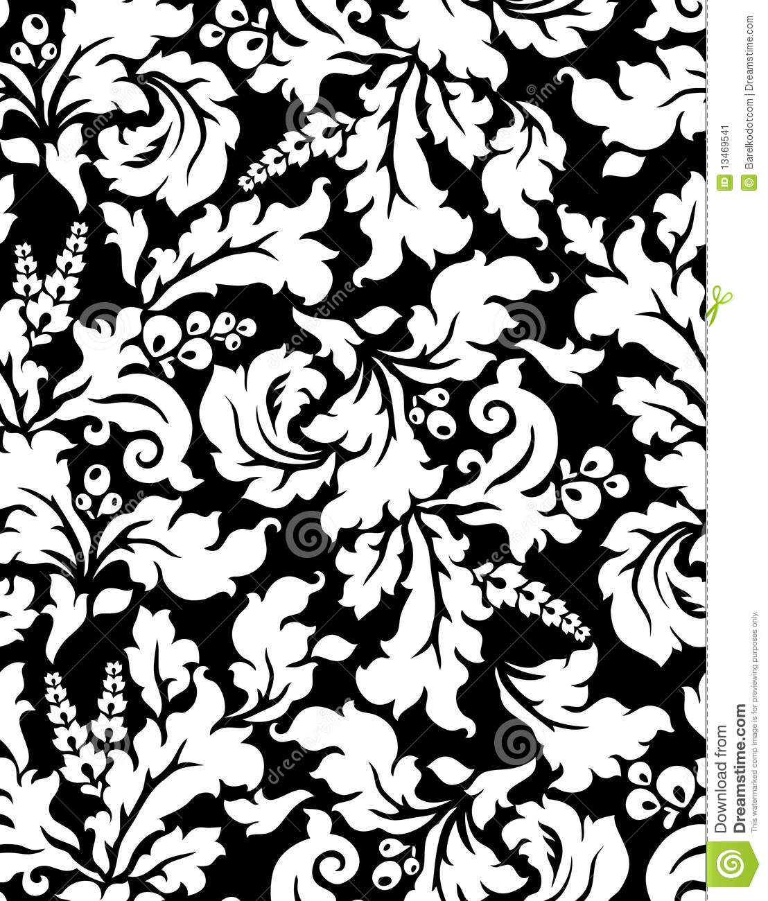Vector. Seamless Damask Pattern Stock Vector - Image: 13469541