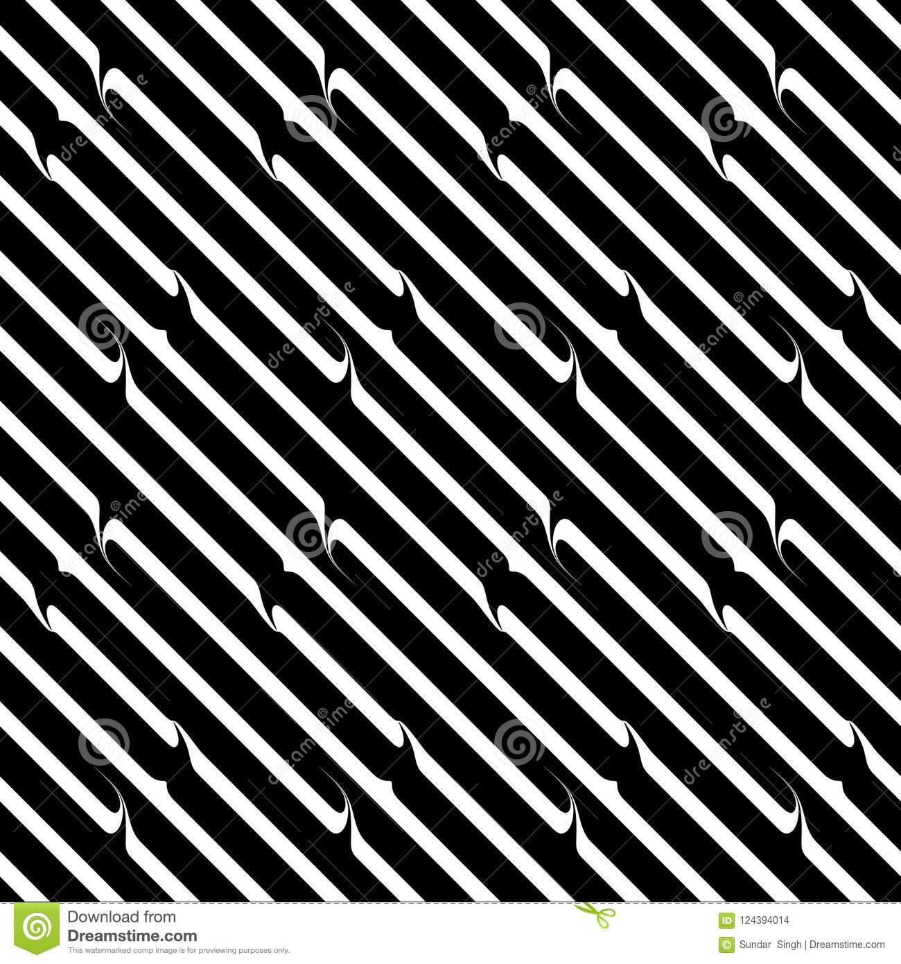 Vector Seamless Diagonal Lines Pattern Black And White Abstract Background Wallpaper Illustration