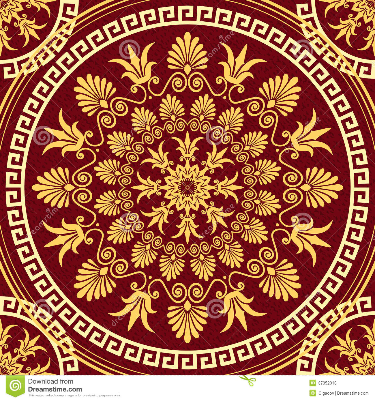 Download Vector Seamless Elegant Lace Gold Ornament Stock Vector - Illustration of motif, lace: 37052018
