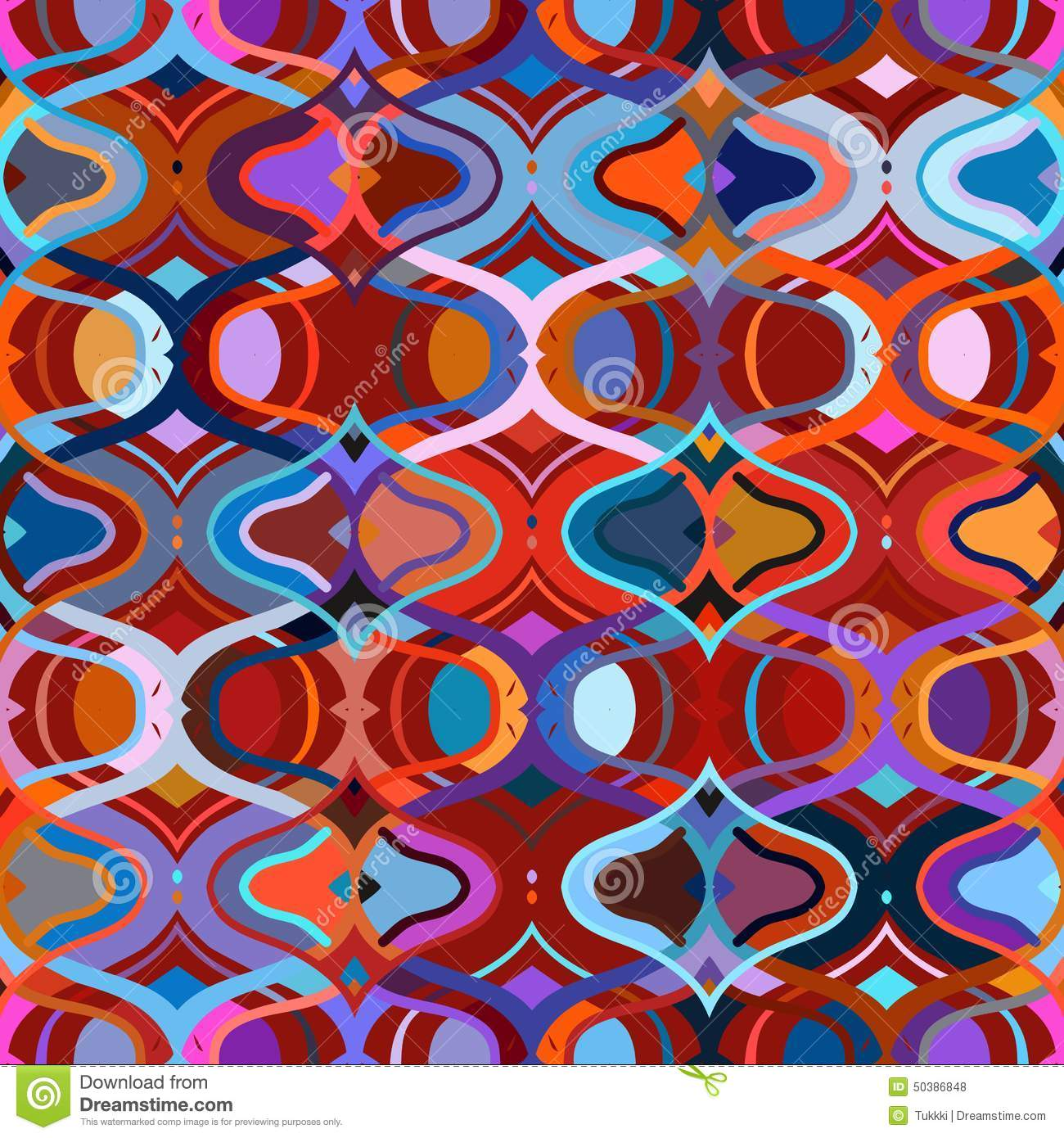 Vector seamless ethnic pattern stock vector image 50386848 for Bright vibrant colors