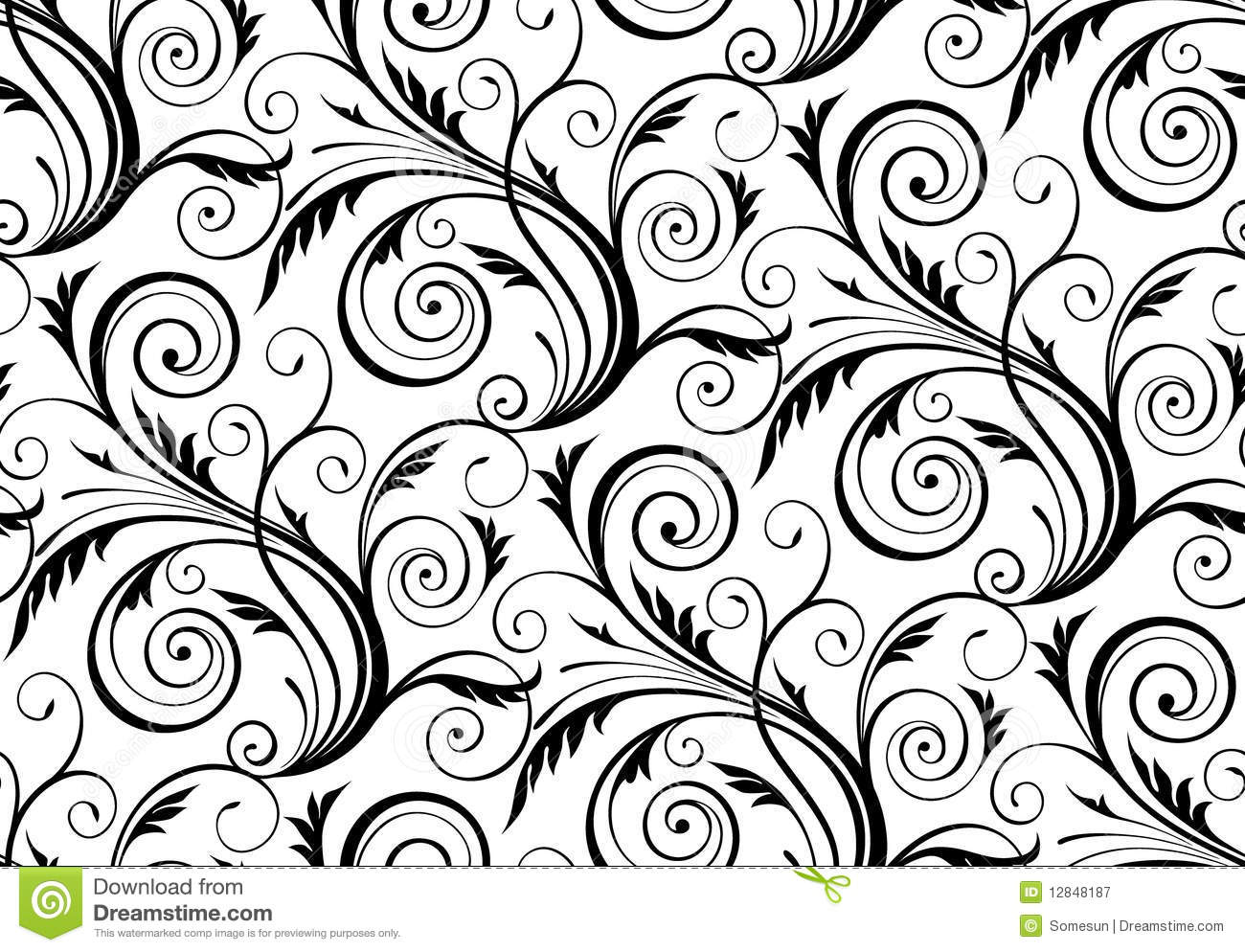 Vector Seamless Floral Pattern Stock Vector Illustration Of Decor