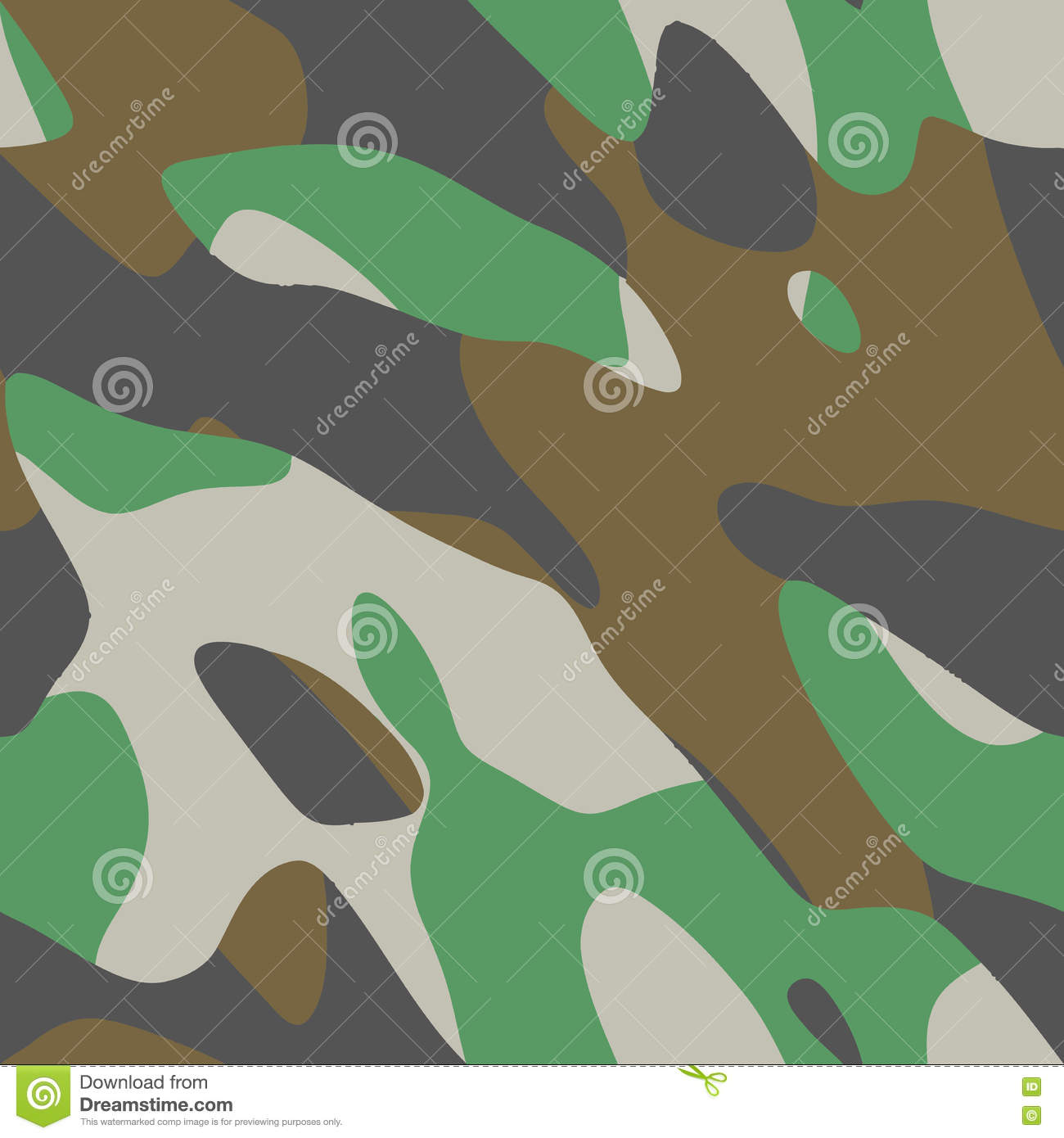Vector seamless four-color camouflage pattern