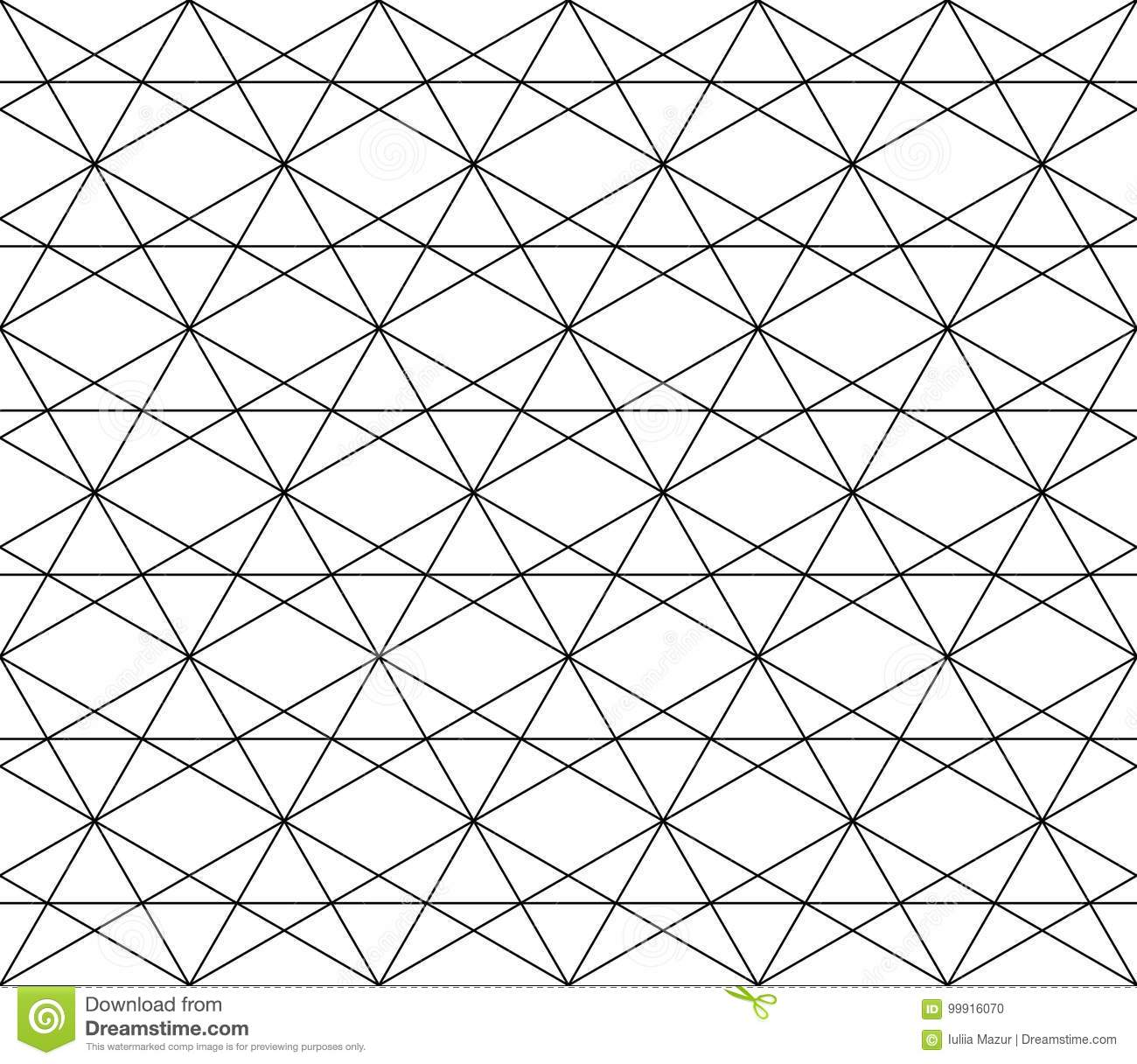 Vector Seamless Geometric Pattern With Editable Weight Of