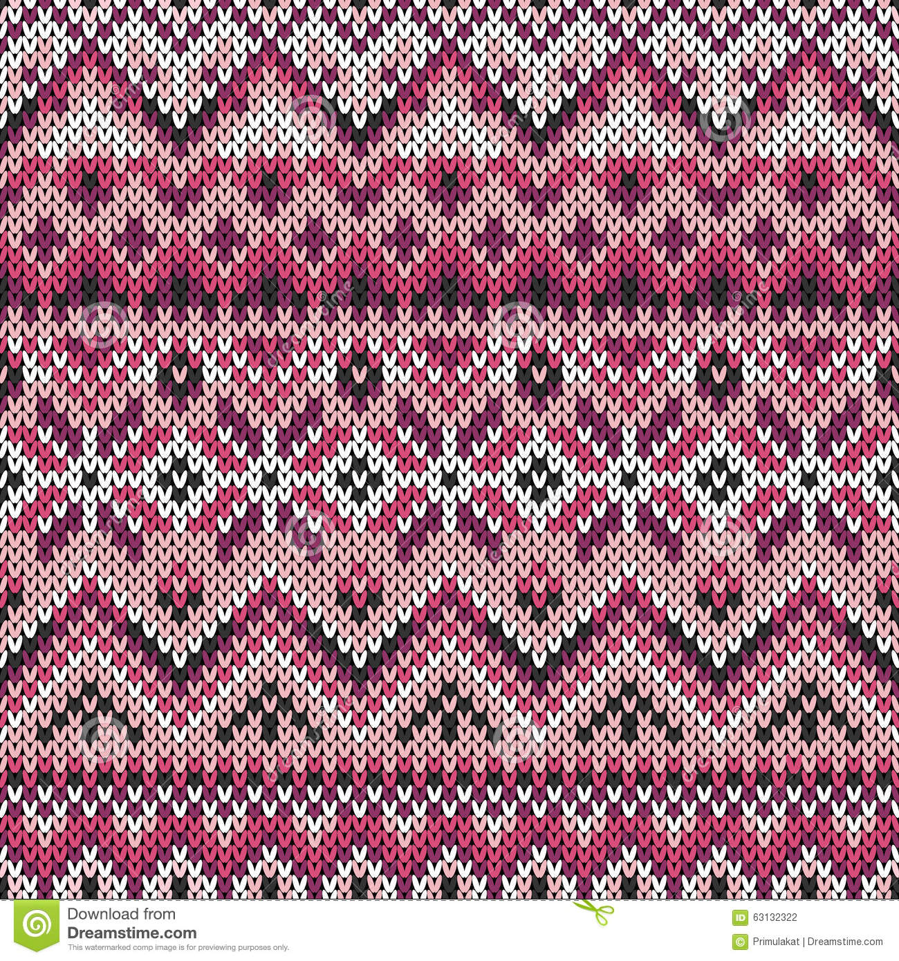 Vector Seamless Lilac Ornament On Knitted Texture Stock