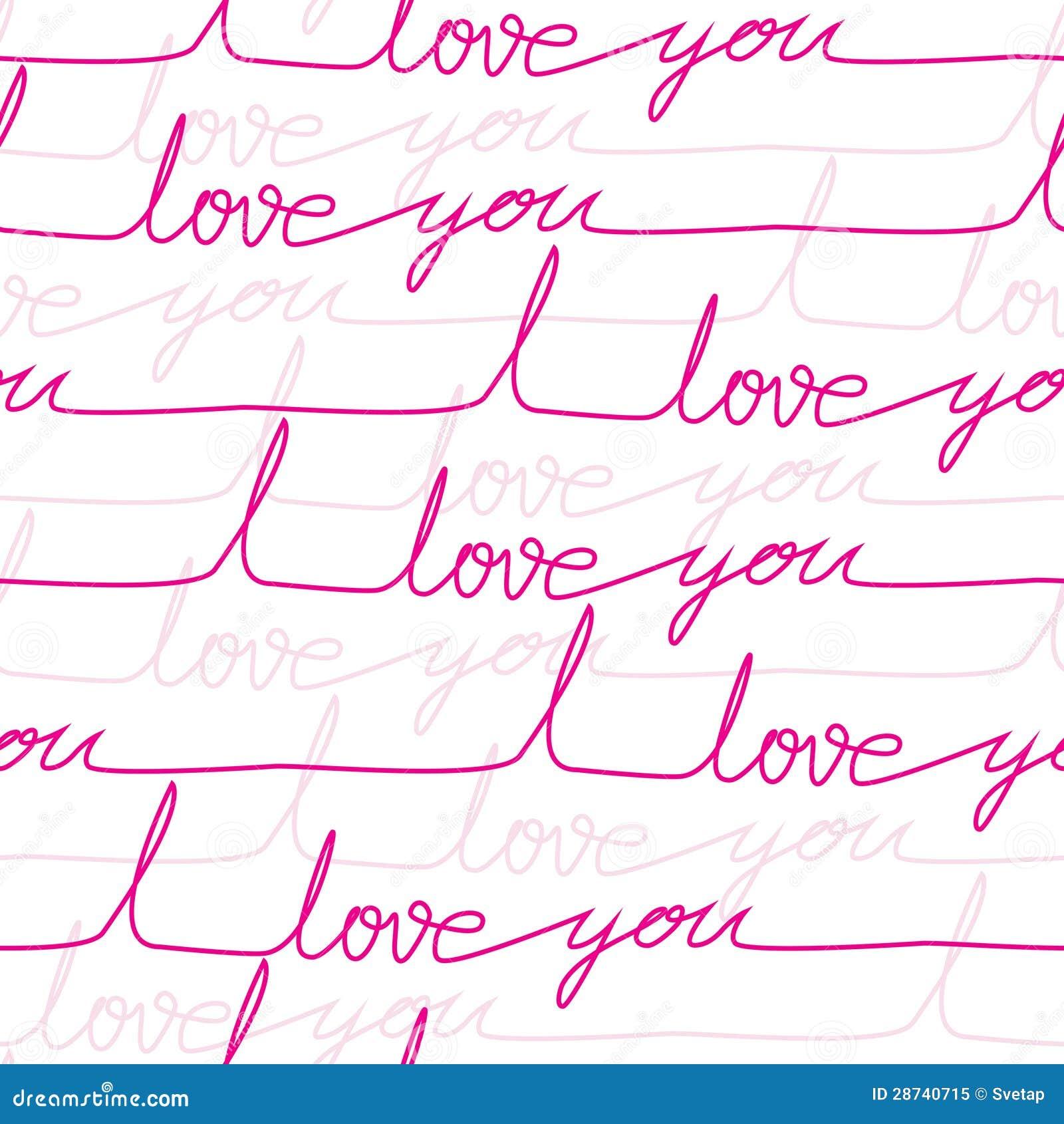 Vector seamless love pattern