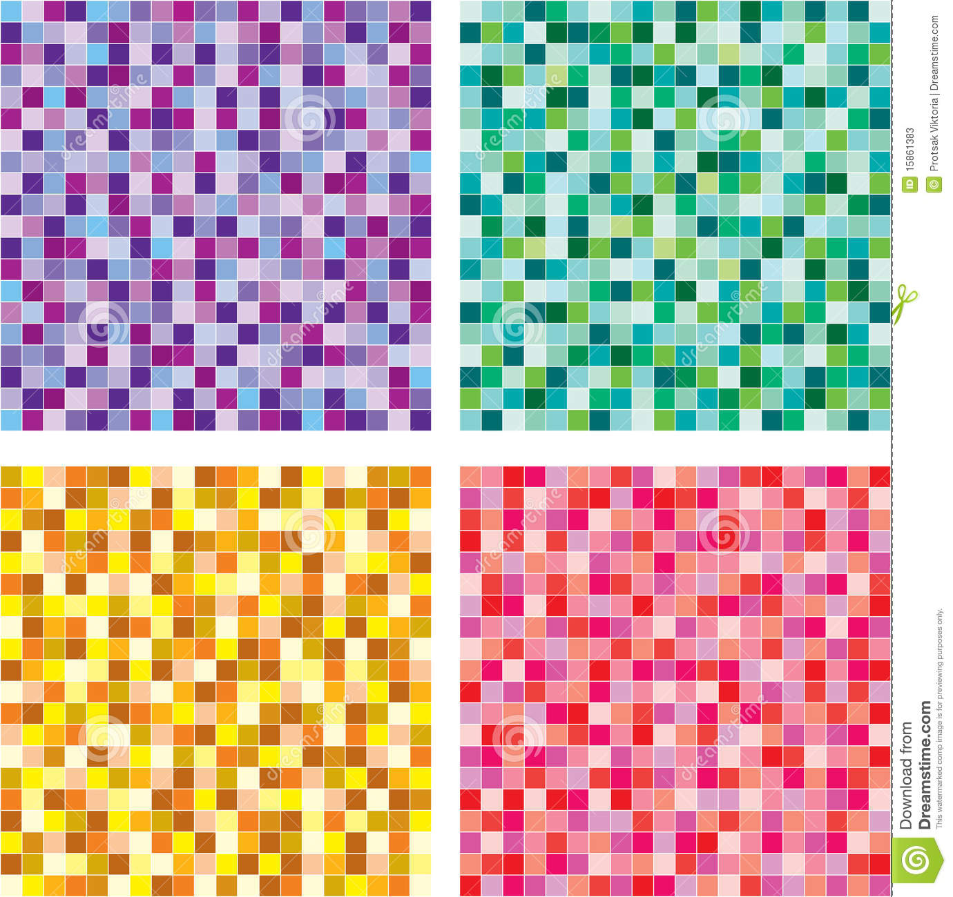 Vector Seamless Of Mosaic Pattern Stock Photos - Image