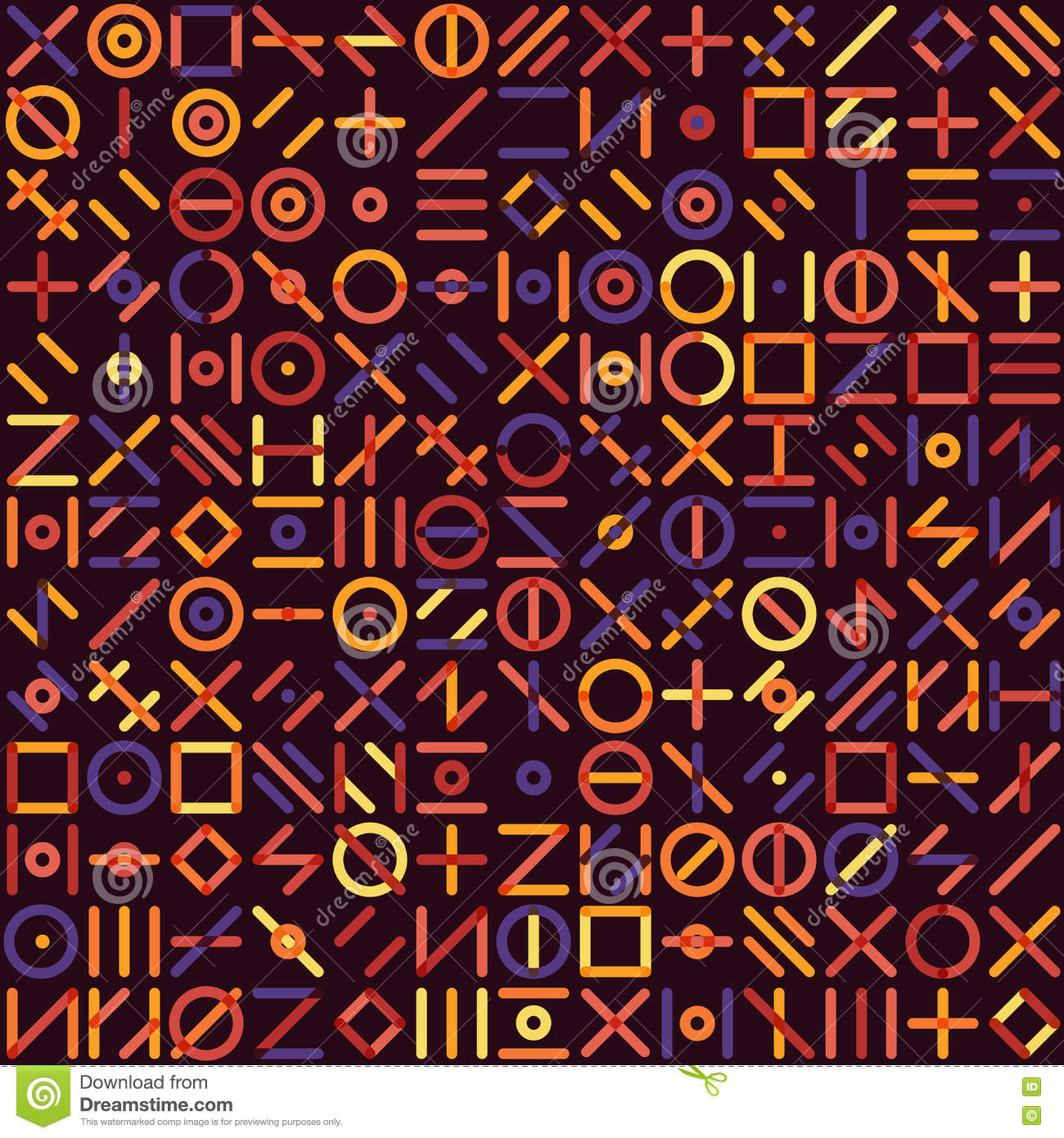 Random Square Multicolor Pattern Royalty Free Stock Image