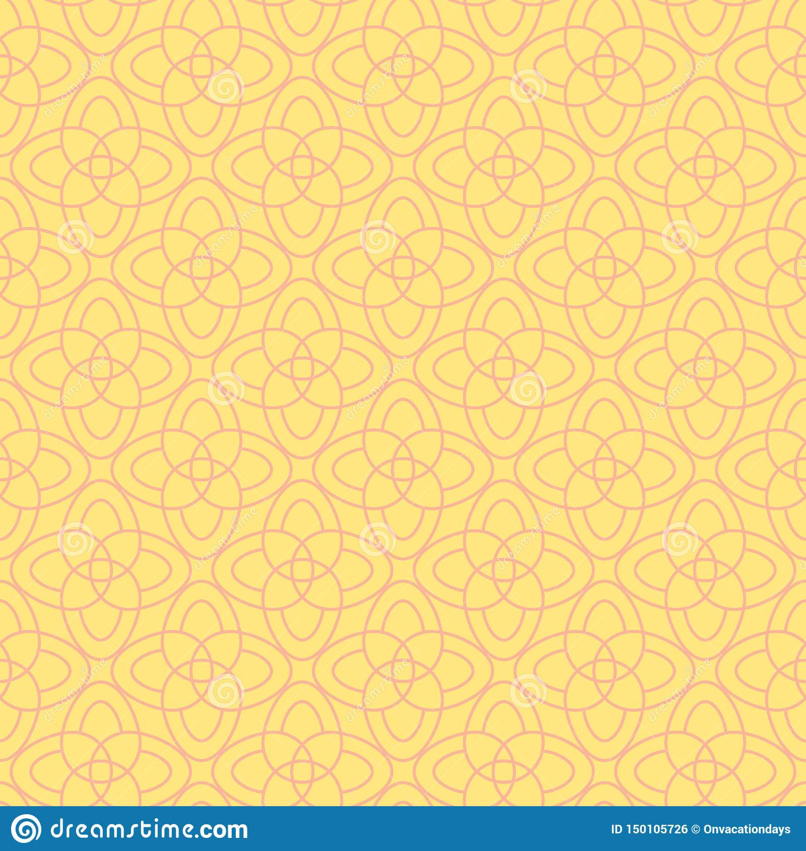 Vector seamless pattern of abstract flowers