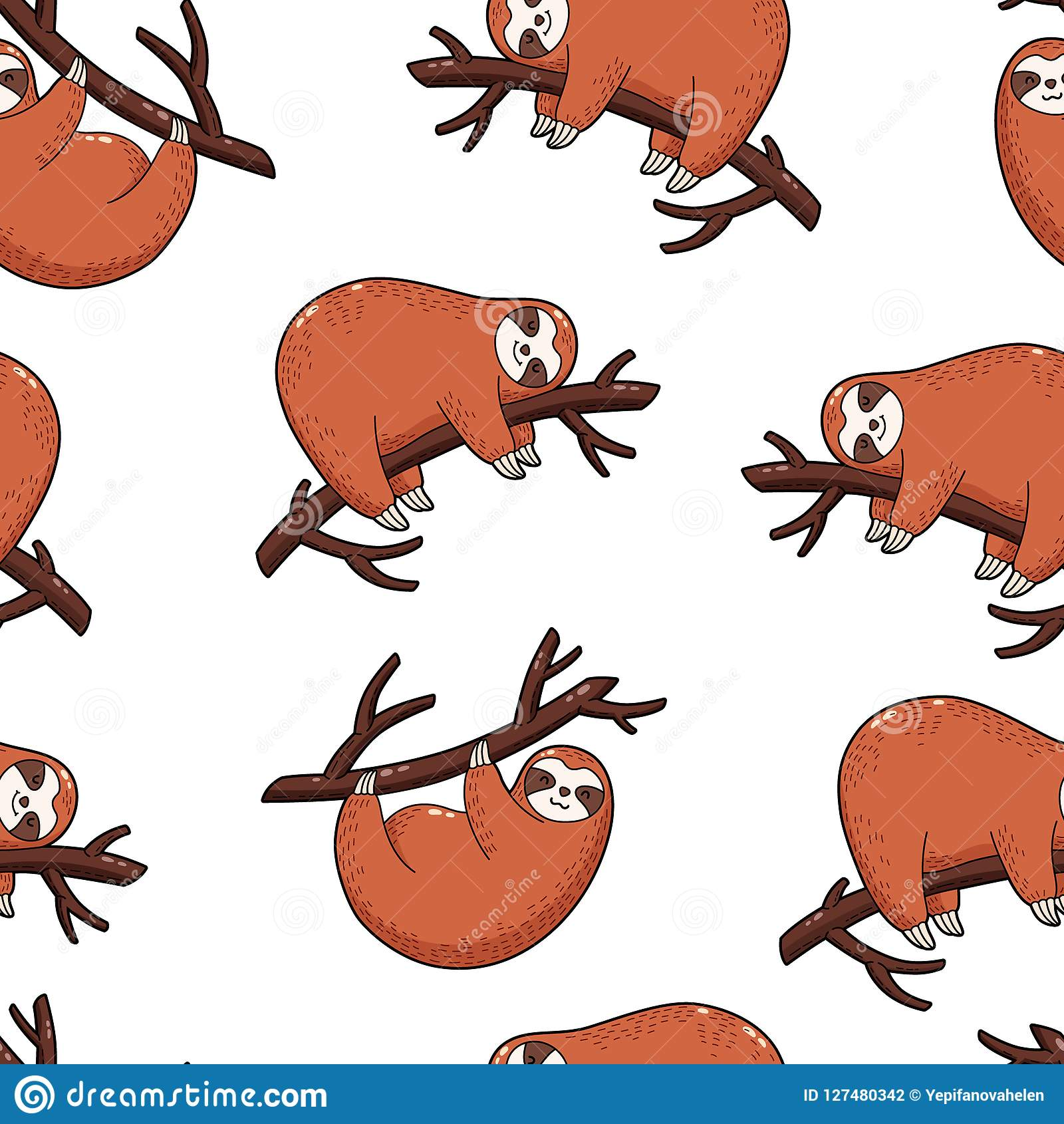 Cartoon Brown Bear Family In The Jungle Vector ...