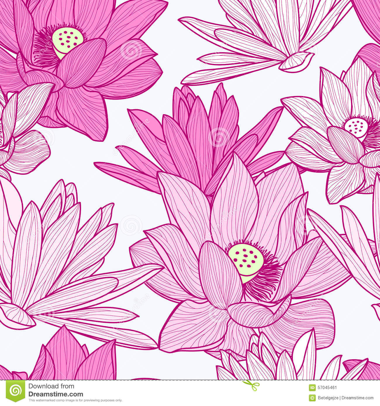 Vector seamless pattern with beautiful pink lotus flower floral vector seamless pattern with beautiful pink lotus flower floral izmirmasajfo