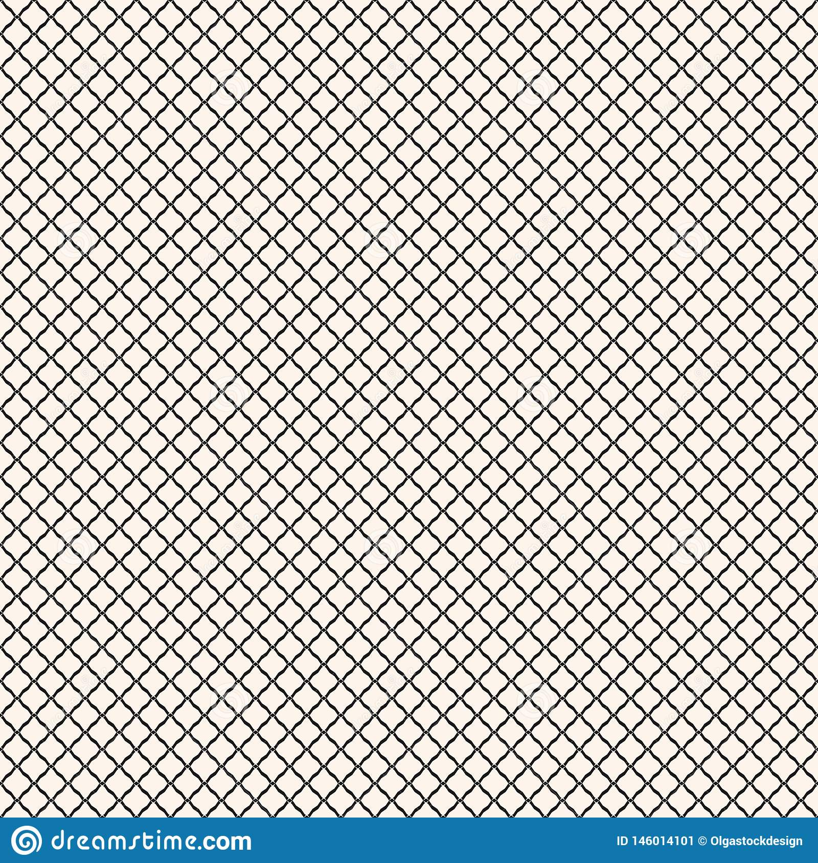 Vector Seamless Pattern, Black And White Geometric Texture ...