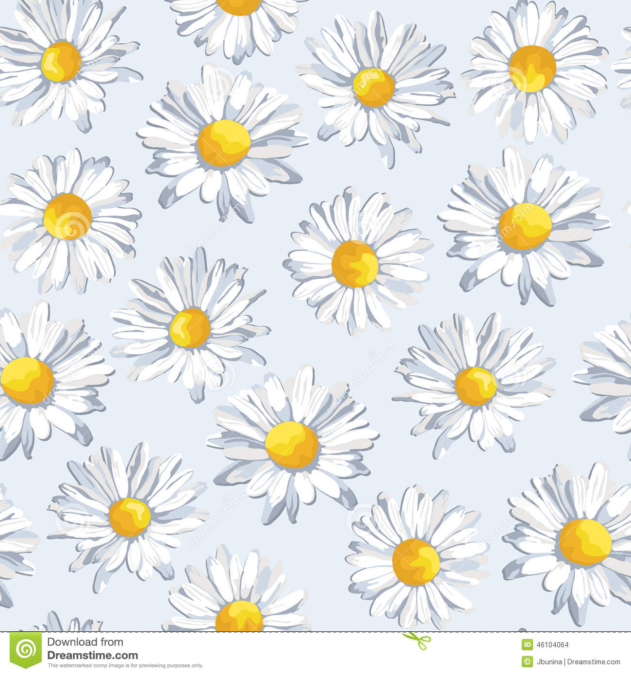 Seamless pattern with beautiful flowers vector for Beautiful pastel colors