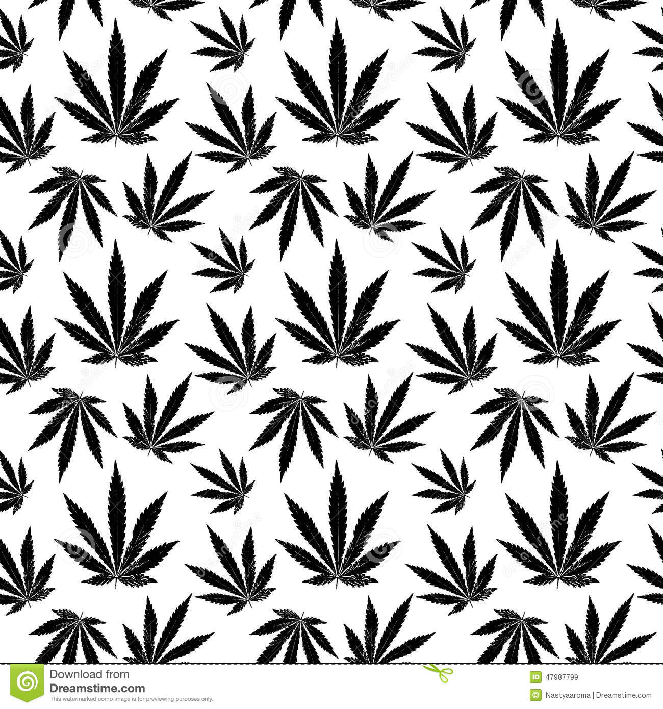 Vector seamless pattern of cannabis leaf stock vector for Design patterns for pot painting