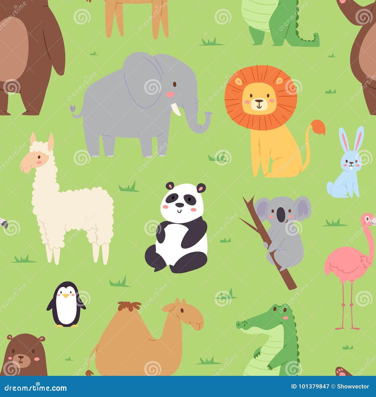 Cartoon Animals Wildlife Wallpaper Zoo Wild Characters