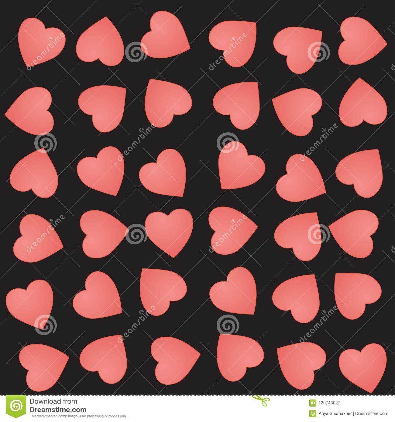 hearts background Cute black pink with