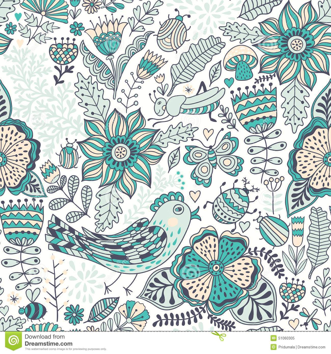 vector seamless pattern doodling design hand draw
