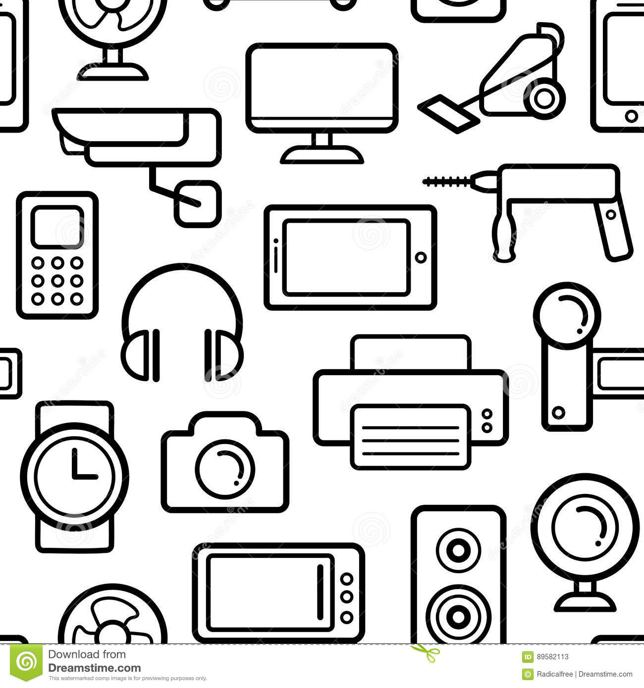 Line Art Icons : Line art household cleaning symbols accessories cartoon