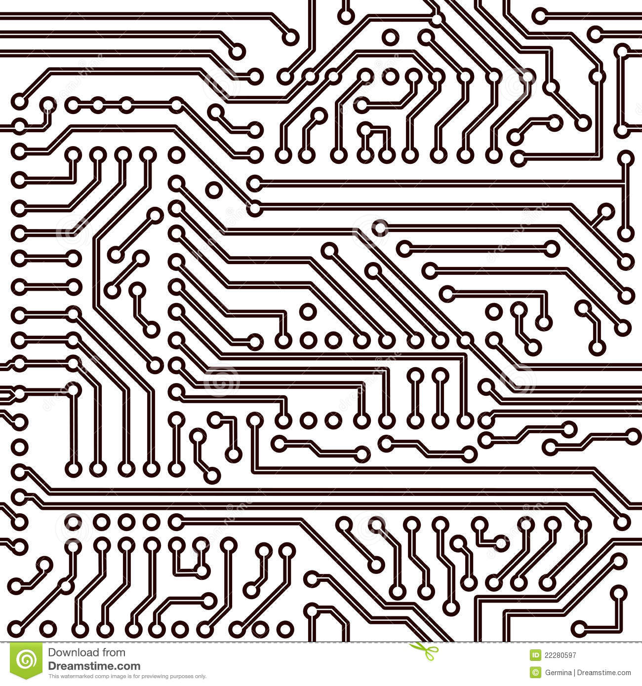 Vector Seamless Pattern - Electronic Circuit Board Stock Vector ...