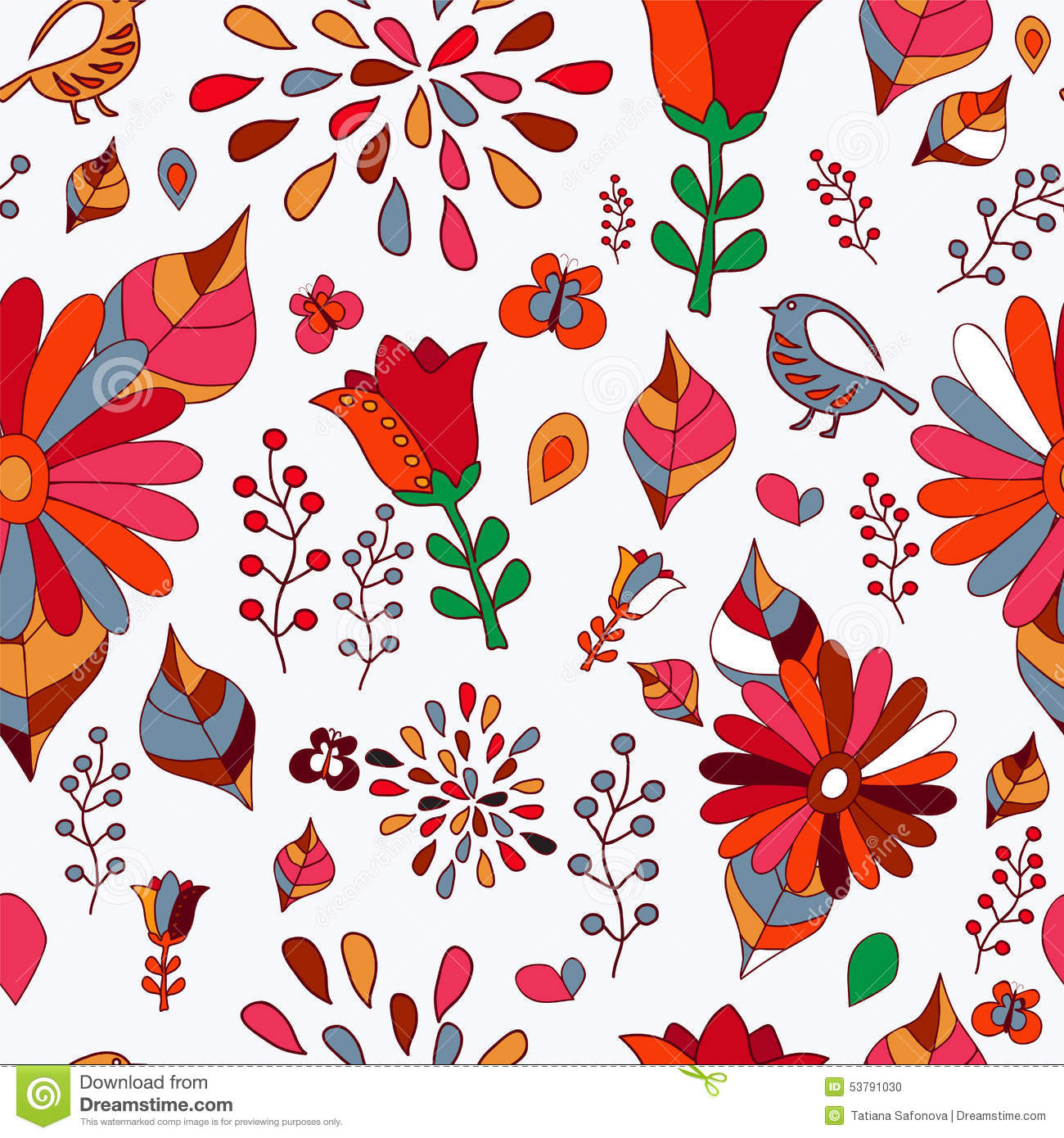 Cartoon Flower With Butterfly Stock Vector - Illustration of insect ...