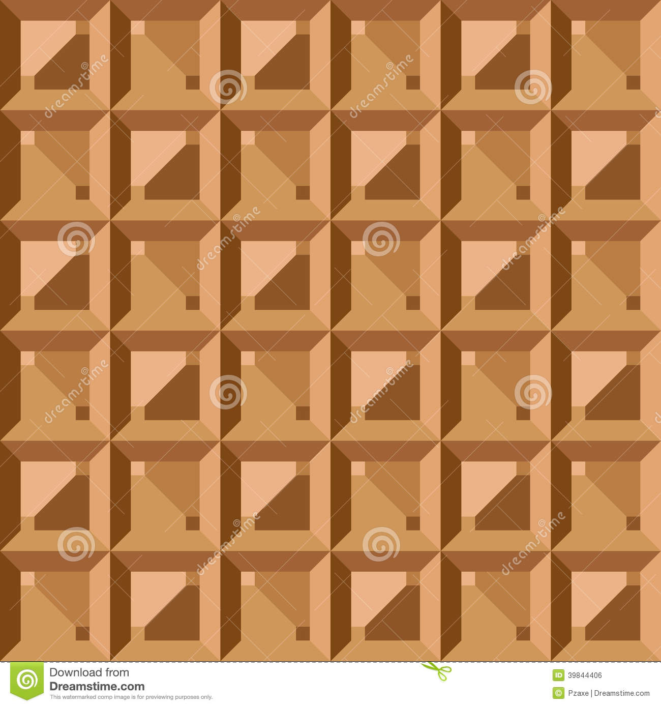 Vector seamless pattern geometric vintage square stock for Object pool design pattern