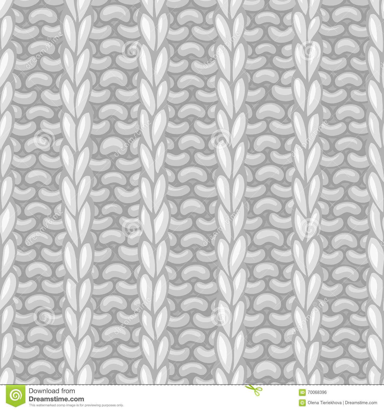 Vector seamless pattern in knitting style.