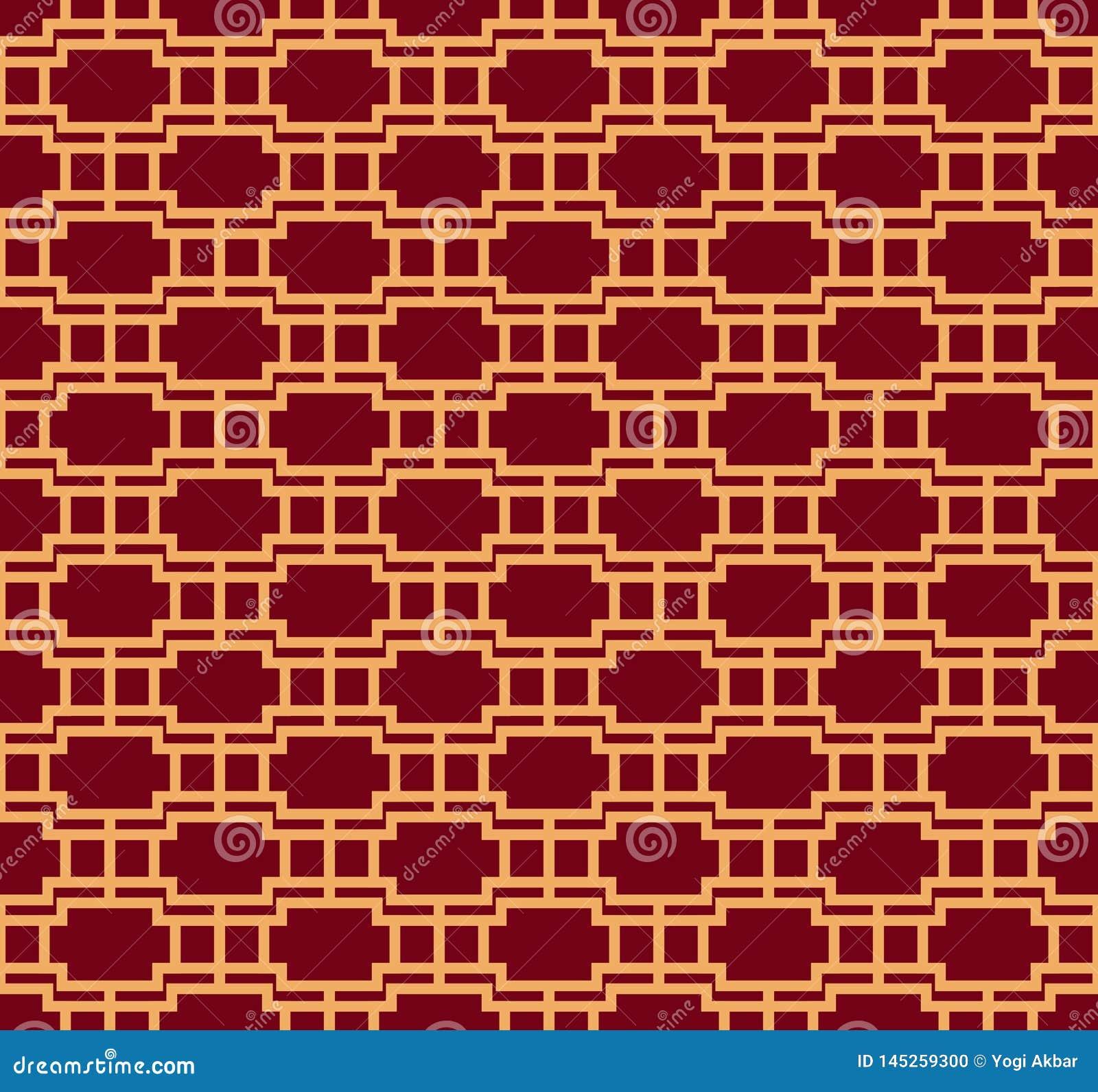 Vector seamless pattern. Modern stylish texture. Geometric striped ornament. luxury linear pattern