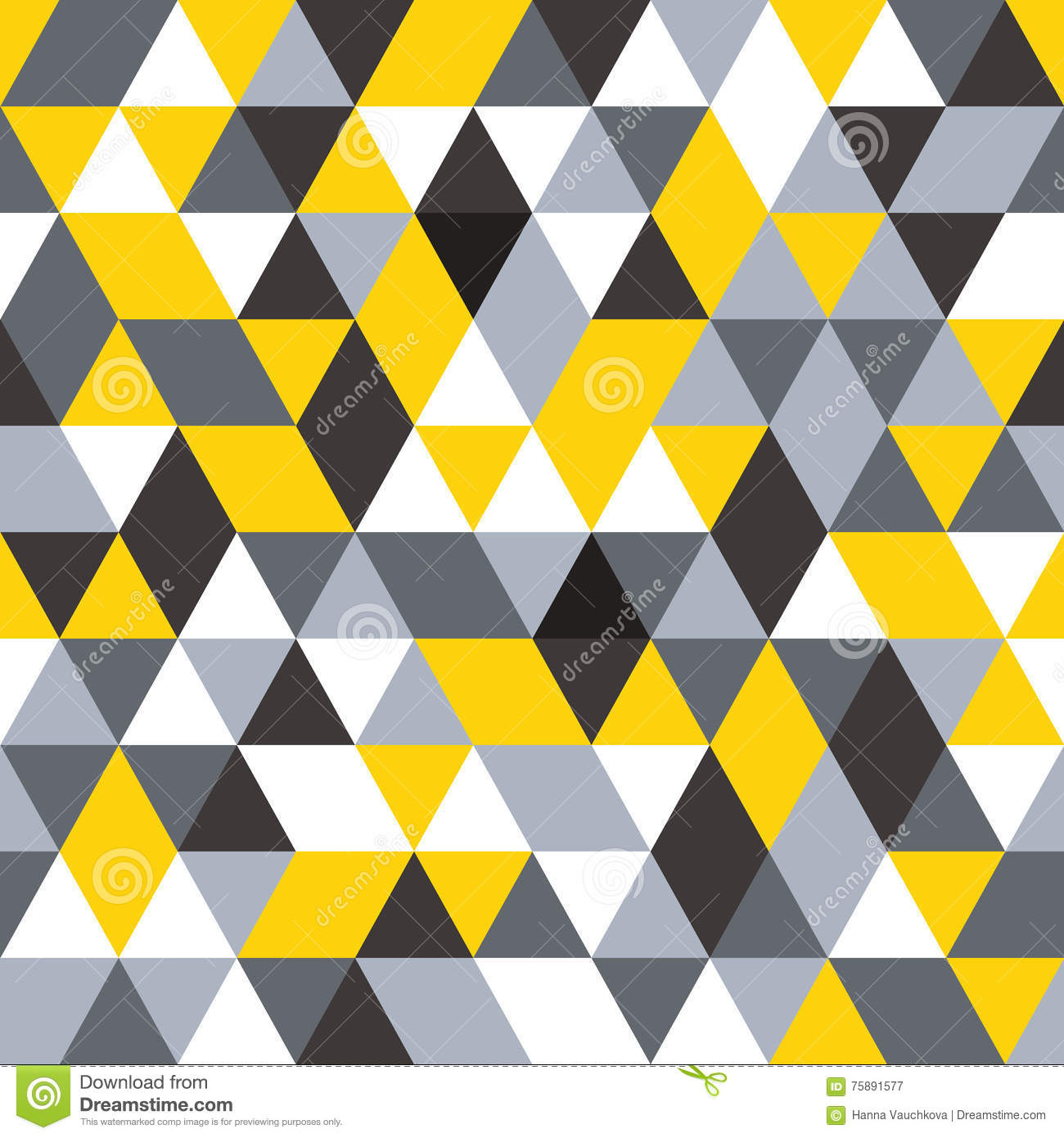 Vector Seamless Pattern Modern Stylish Texture Repeating Geometric Background Black Grey And
