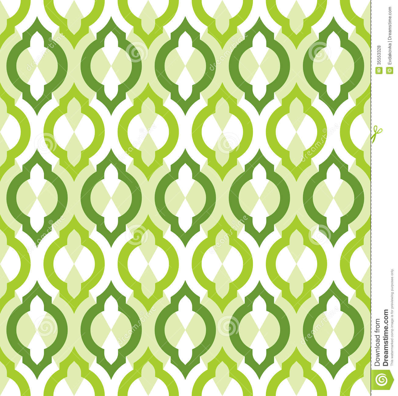vector seamless pattern moroccan style stock vector