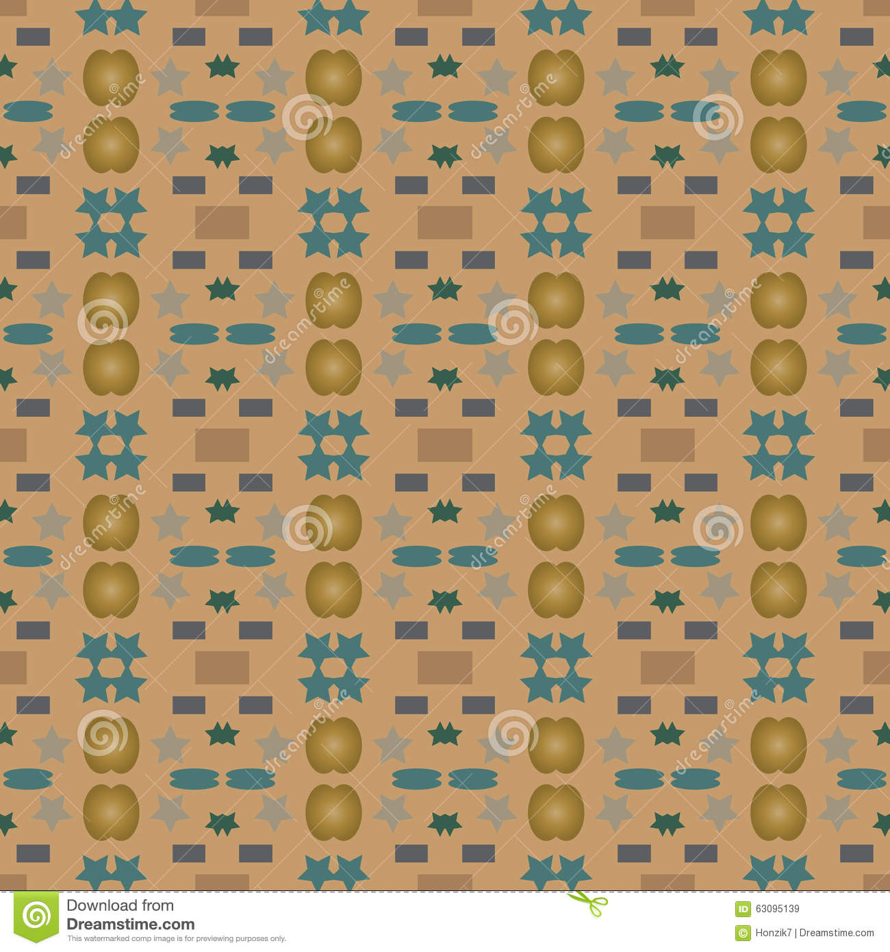 Vector seamless pattern or print stock vector image for Different wallpaper designs