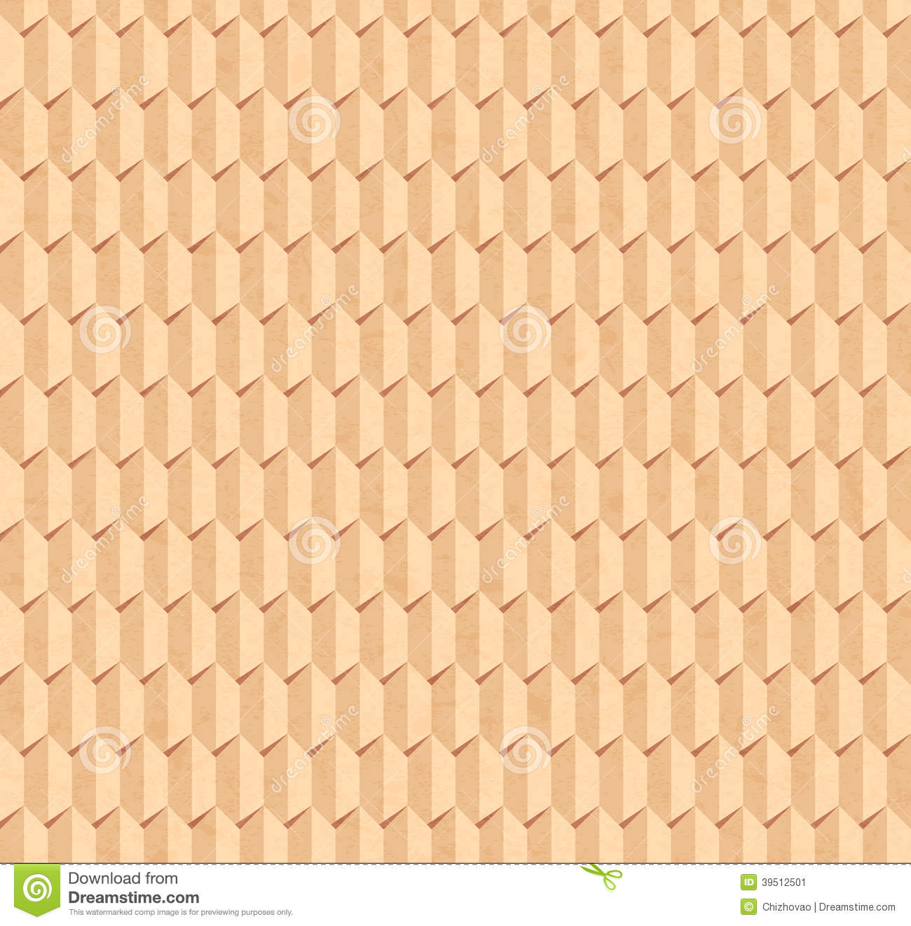 Vector seamless pattern of relief paper